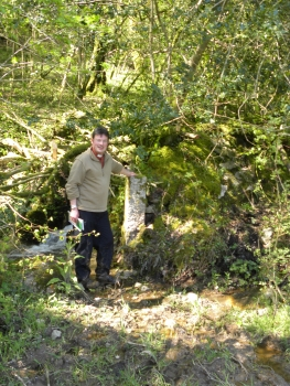 Michael finds another boundary stone